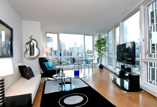 Interior decor of penthouse in New York City
